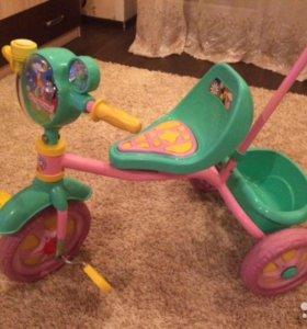 """Велосипед трехколёсный """"Ну,погоди!"""" с ручкой"""