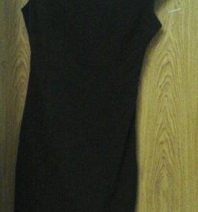 Продам трикатажное черное платье р 42-44
