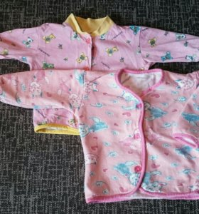 Ползунки и кофточки для девочки