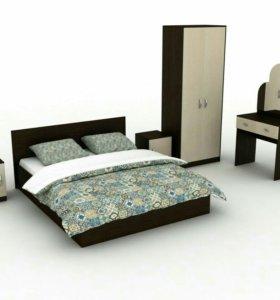 Спальный гарнитур 6 предметов с матрасом
