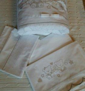 НОВЫЙ комплект белья с одеялом PALI PRESTIGE
