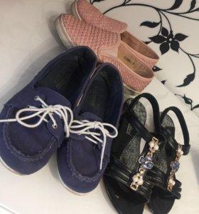 Три пары обуви 37 размера