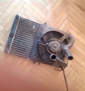 Радиатор 2108-2115 инжектор с вентилятором