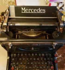 Раритетная печатная машинка мерседес