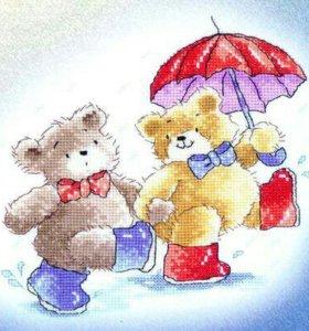 Набор для вышивания Мишки под дождем Арт.: Heritag