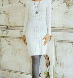 Белое вязаное платье ZOLLA