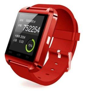 Умные часы цвет бордовый