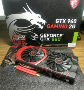 Видеокарта MSI Geforce gtx 960 gaming 2g
