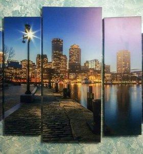 Картина Ночной город