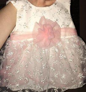 Платье детское/ повязка на голову в подарок!!!