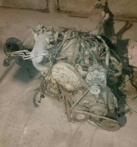Мотор и коробка ауди 80- 1.8L