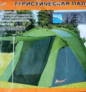 Палатка 3х местная с козырьком LY-1709