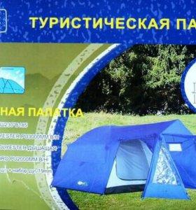 Палатка 4х местная с тамбуром XFY1704
