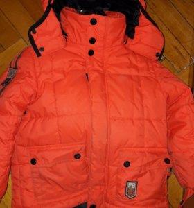 Комплект зима полукомбинизон и куртка на 4-5лет