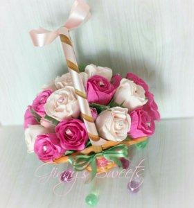 Букет из конфет, свадебный подарок,подарок девушке