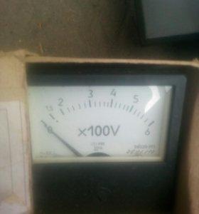 Амперметор 100а, вольтм 400в