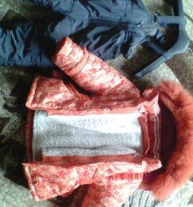 Зимний костюм тройка на 2-3 года
