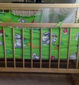Кроватка детская от 0 до 3 лет