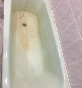 Реставрация ремонт эмали старых чугунных ванн!