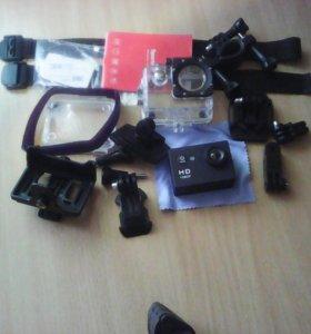 Экшен камера + флашка 8 гб + штатив