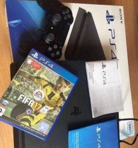 Игровая приставка PlayStation 4 Slim 500GB black