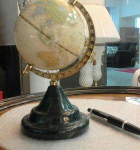Глобус Винтажный на камне