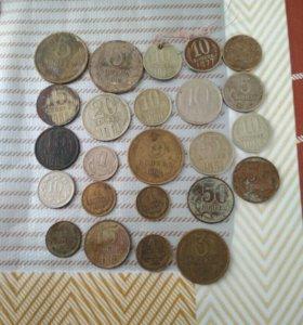 Монеты 25 штук