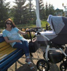 Детская модульная коляска 2 в 1 Indigo Charlotte