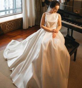 Свадебное платье А-силуэт р.42-44