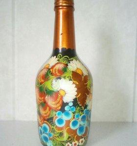 Бутылка ручная работа
