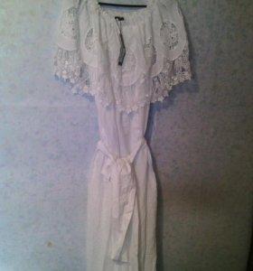 Платья  белое очень нежное красивое новое сарафаны