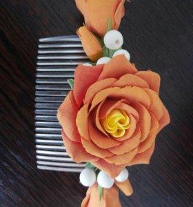 Гребешок с розами