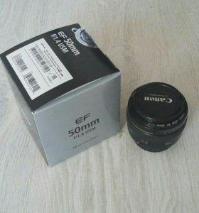 Обьектив Canon ef 50mm f1.4 USM