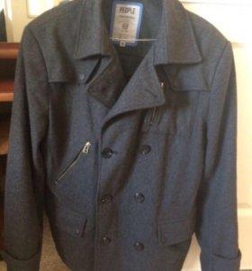 Мужское демисезонное шерстяное пальто