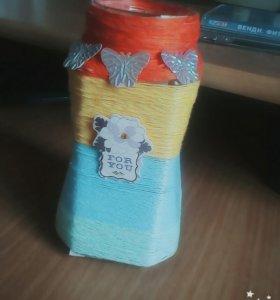 Самодельная ваза