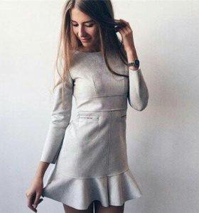 Новое платье замшевое