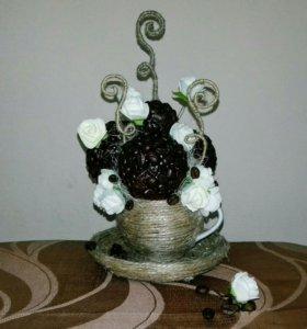 Кофейная кружечка со сливками,отличная композиция