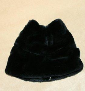 Меховая шапочка с ушками