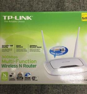 Роутер Wi-Fi TP-Link 4 порта 300 Mbps