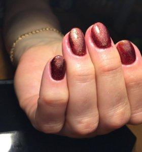 Маникюр+покрытие ногтей гель-лаком