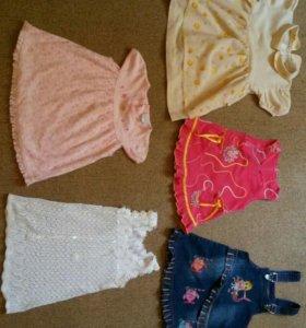 Платья и сарафаны для девочки от 6 мес. до 3 лет