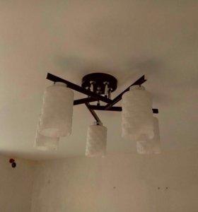 Потолочный светильник 5 плафонов