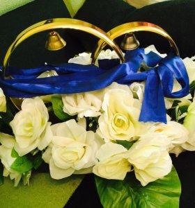 Продам свадебные кольца на машину