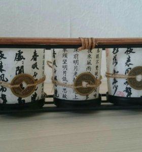 Сувенир - набор стаканчиков с иероглифами