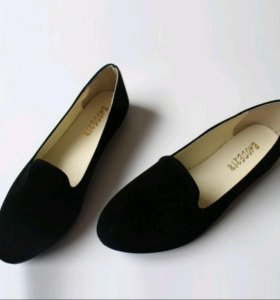 Продам мокасины (ботинки, балетки, лоферы) чёрные.