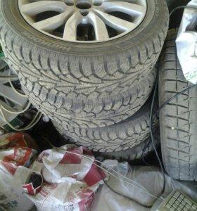 Зимние колеса от датсун на литье