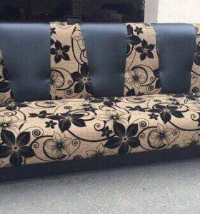 000140 новый диван книжка мешковина от фабрики
