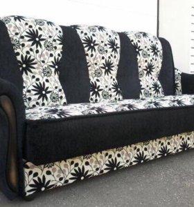 000142 новый диван книжка мешковина от фабрики
