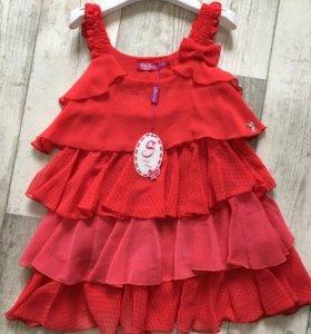 Платье красное Италия