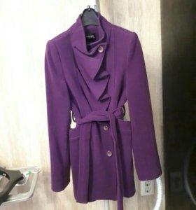 Пальто Ahsen для девочки из натурального кашемира